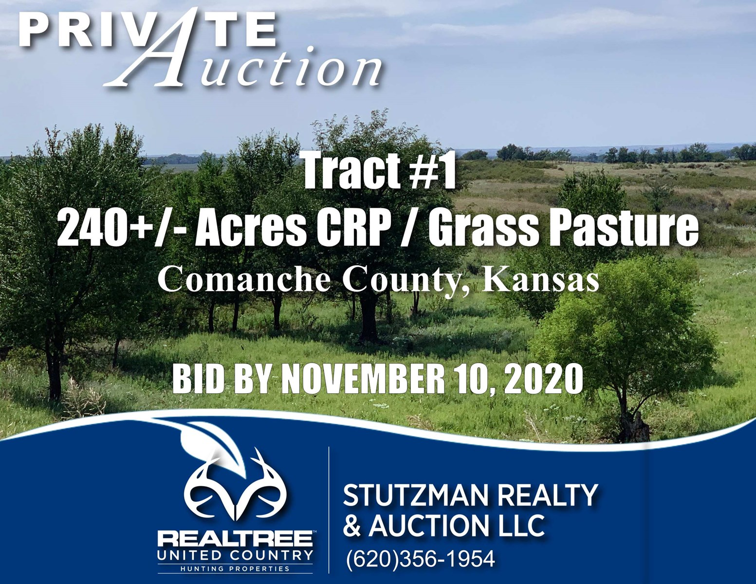 COMANCHE COUNTY, KS ~ 240+/- ACRE ~ PRIVATE AUCTION ~ TR#1