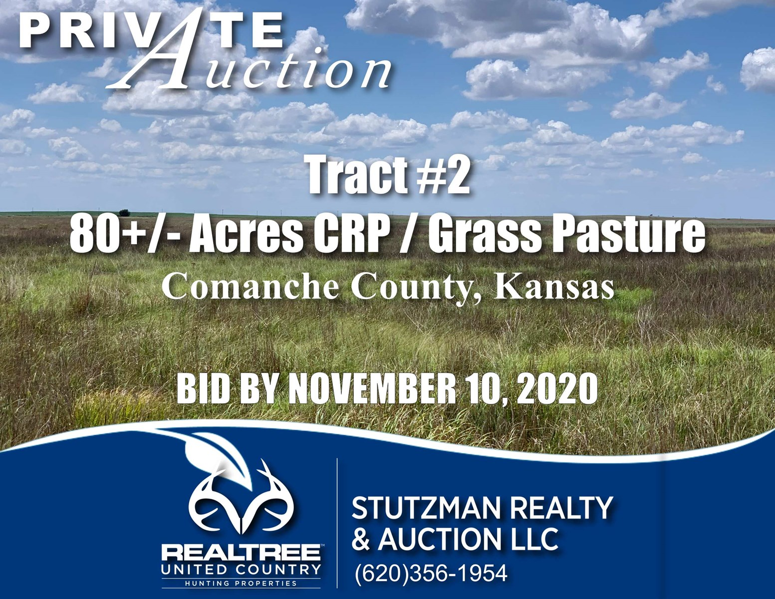 COMANCHE COUNTY, KANSAS ~ 80+/- ACRE ~ PRIVATE AUCTION