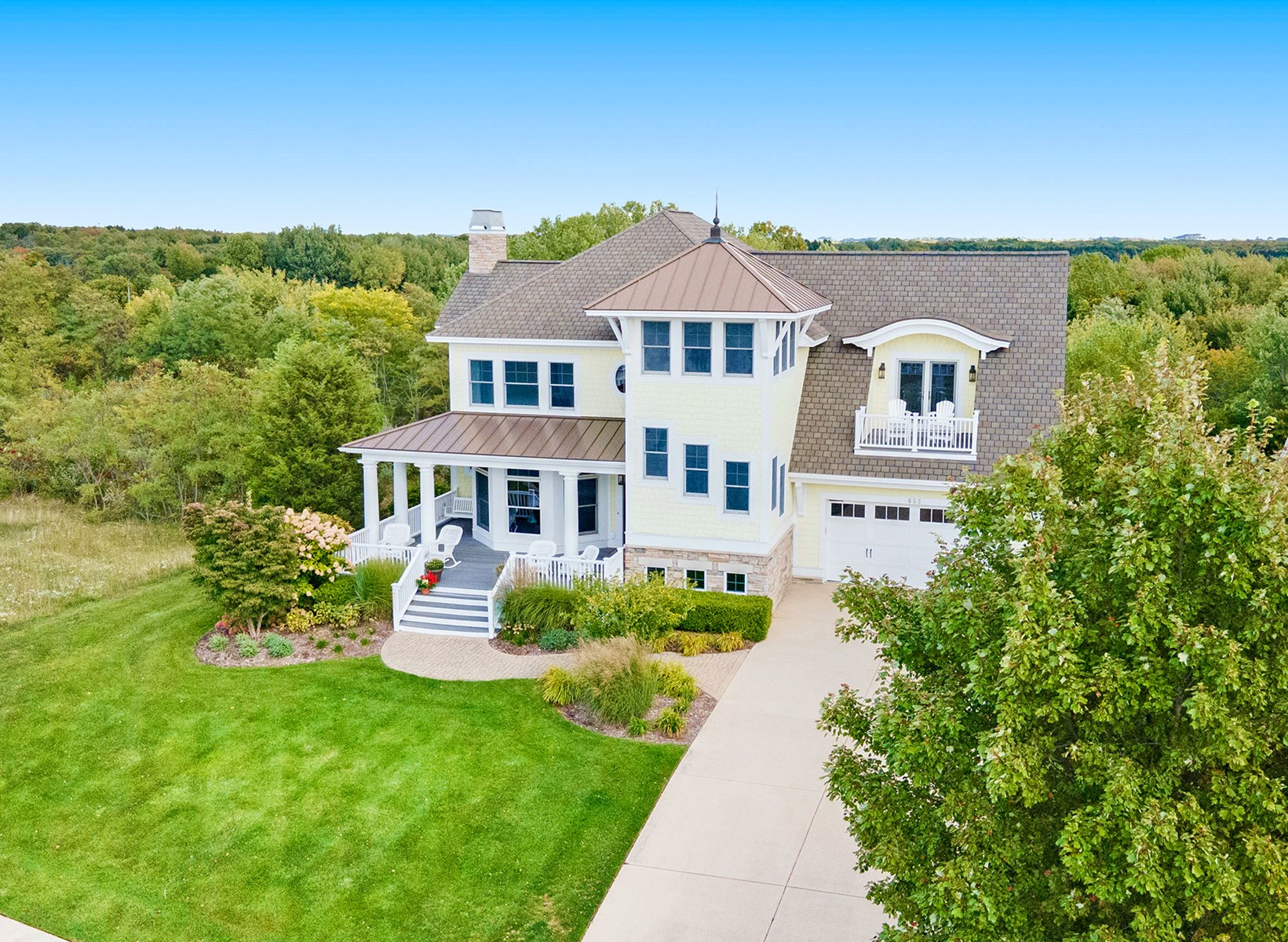 Spectacular Lake Michigan Home in Gated Community