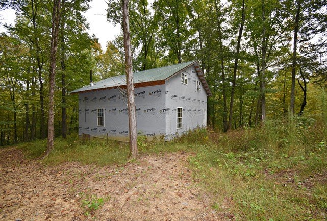 Private Unfinished Cabin w\ Creek & 9 Wooded Acres $69,900