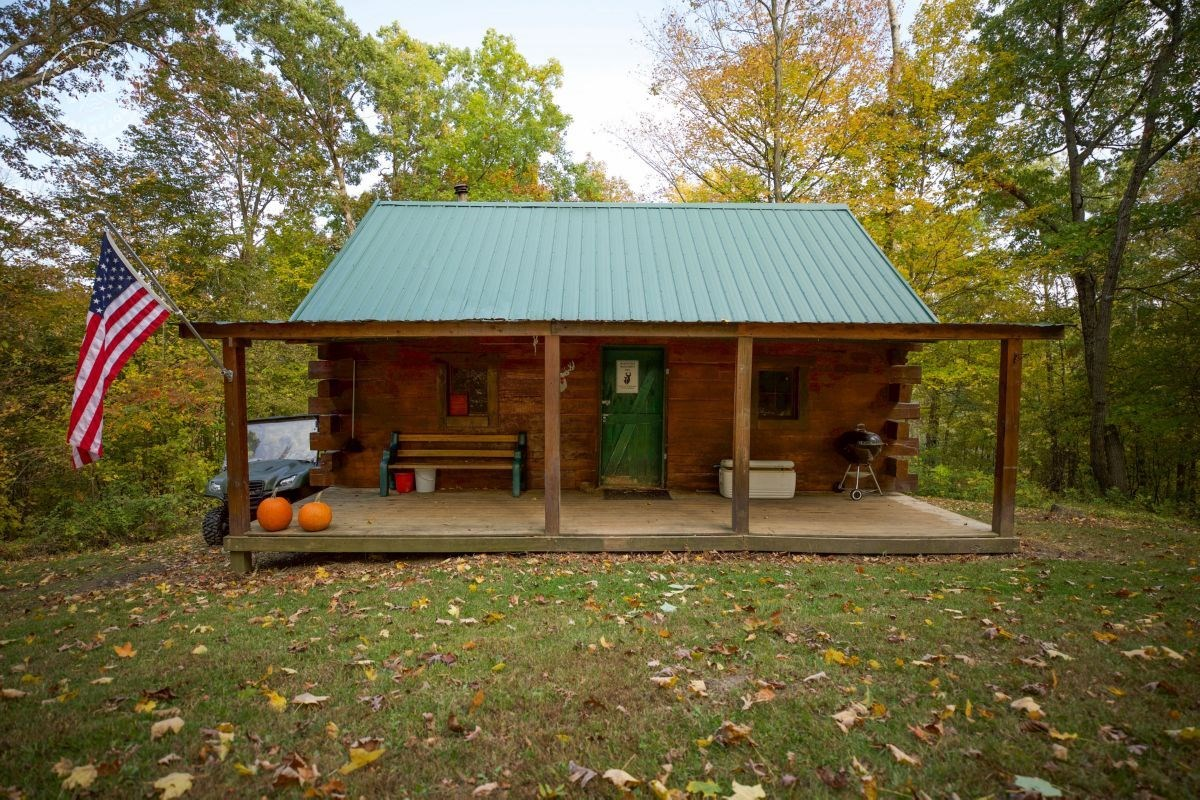 Secluded Cabin with Premium Whitetail Land for Sale in Crawf