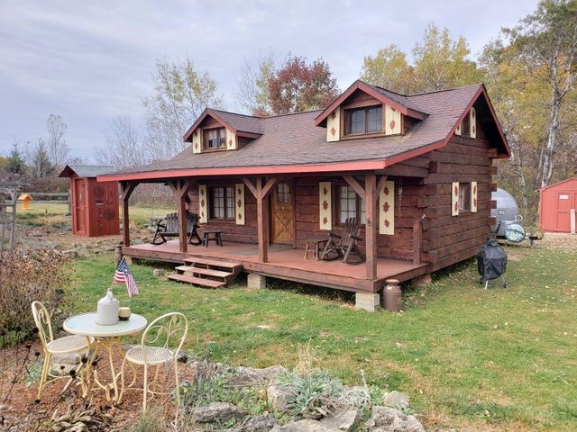 JUST SOLD! Cozy Amish made log cabin 7 acres for sale in WI