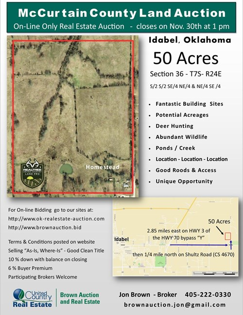 Oklahoma Land For Sale - McCurtain County - Hunting