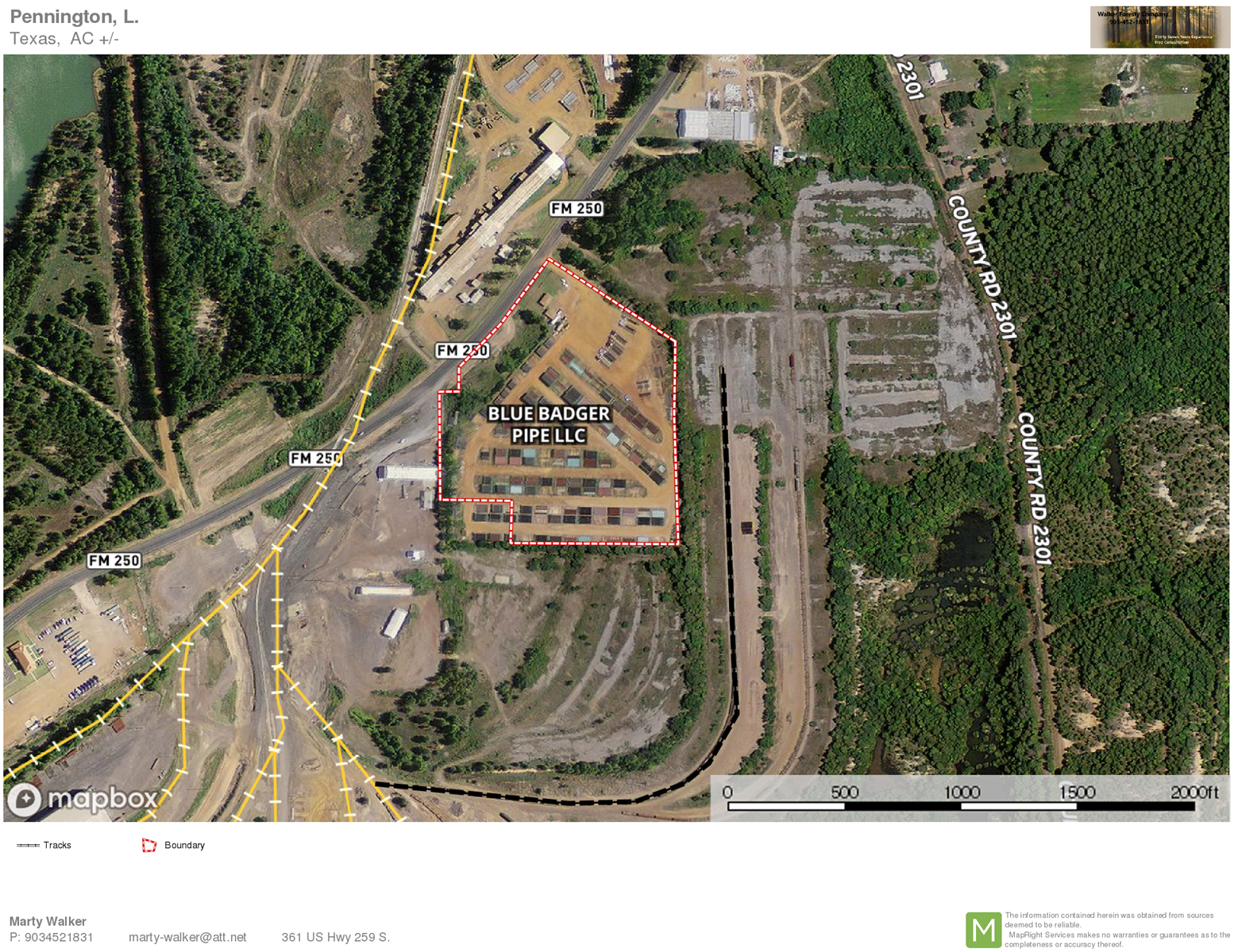 Commercial Pipe or Storage Yard for Sale in Lone Star Texas