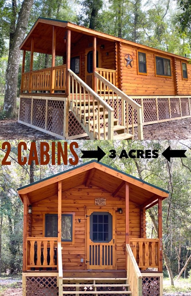 TWO Brand New Amish Made Cabins on 3/acres