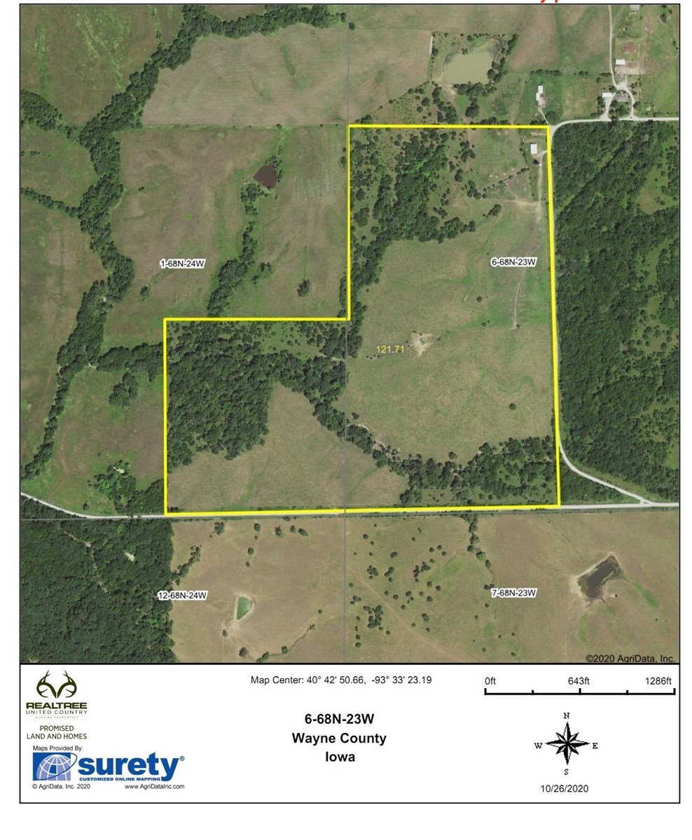 Premium Hunting 121 Acres on the Wayne/Decatur Line