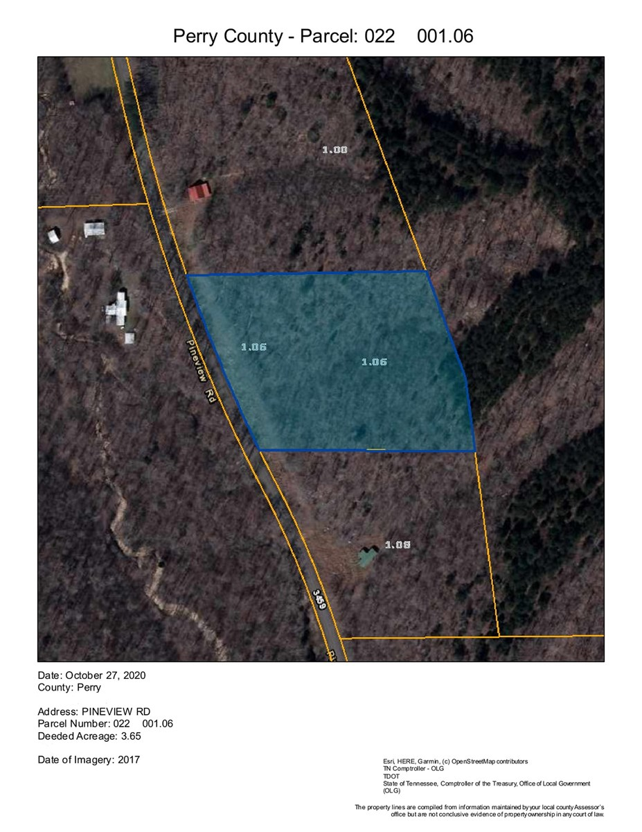 3.65 Acres Unrestricted land for sale in Linden, TN