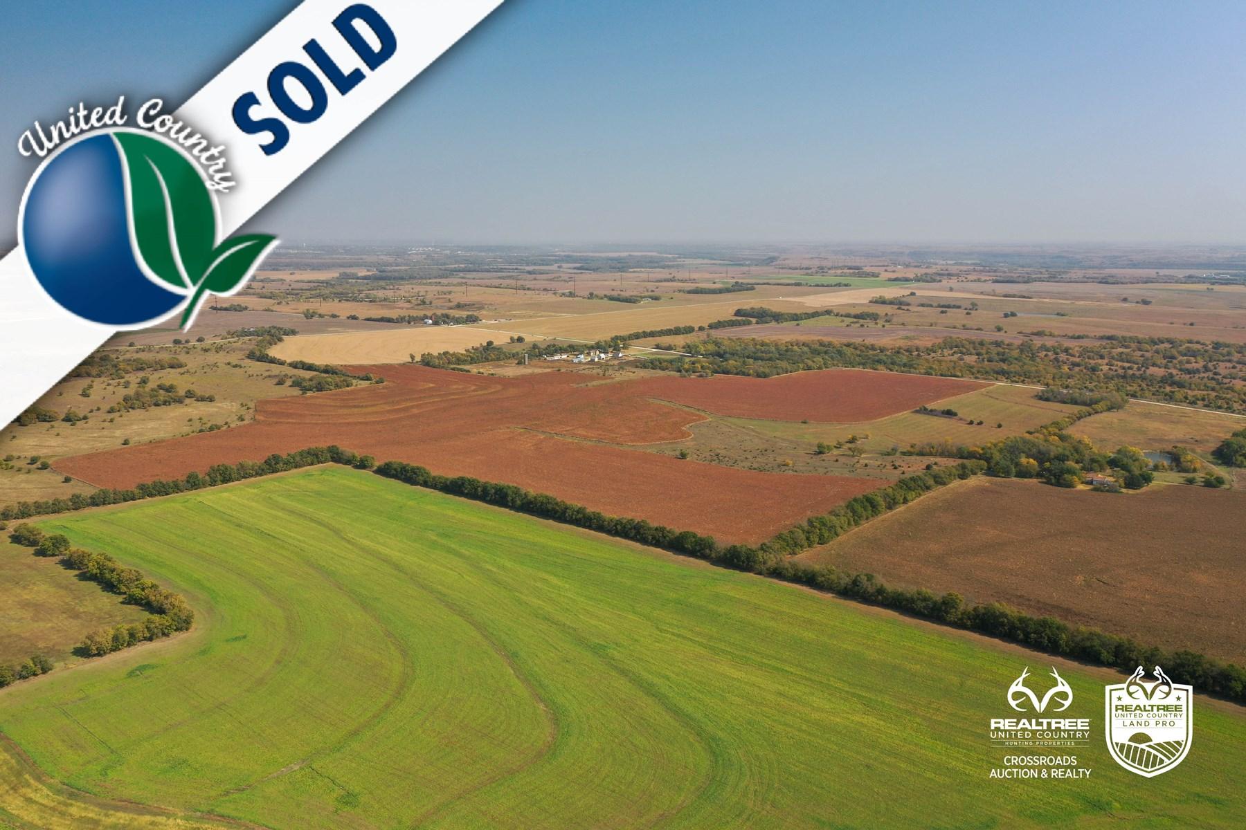 Tract #3 - West & South Farmland - Kansas Farm Land Auction