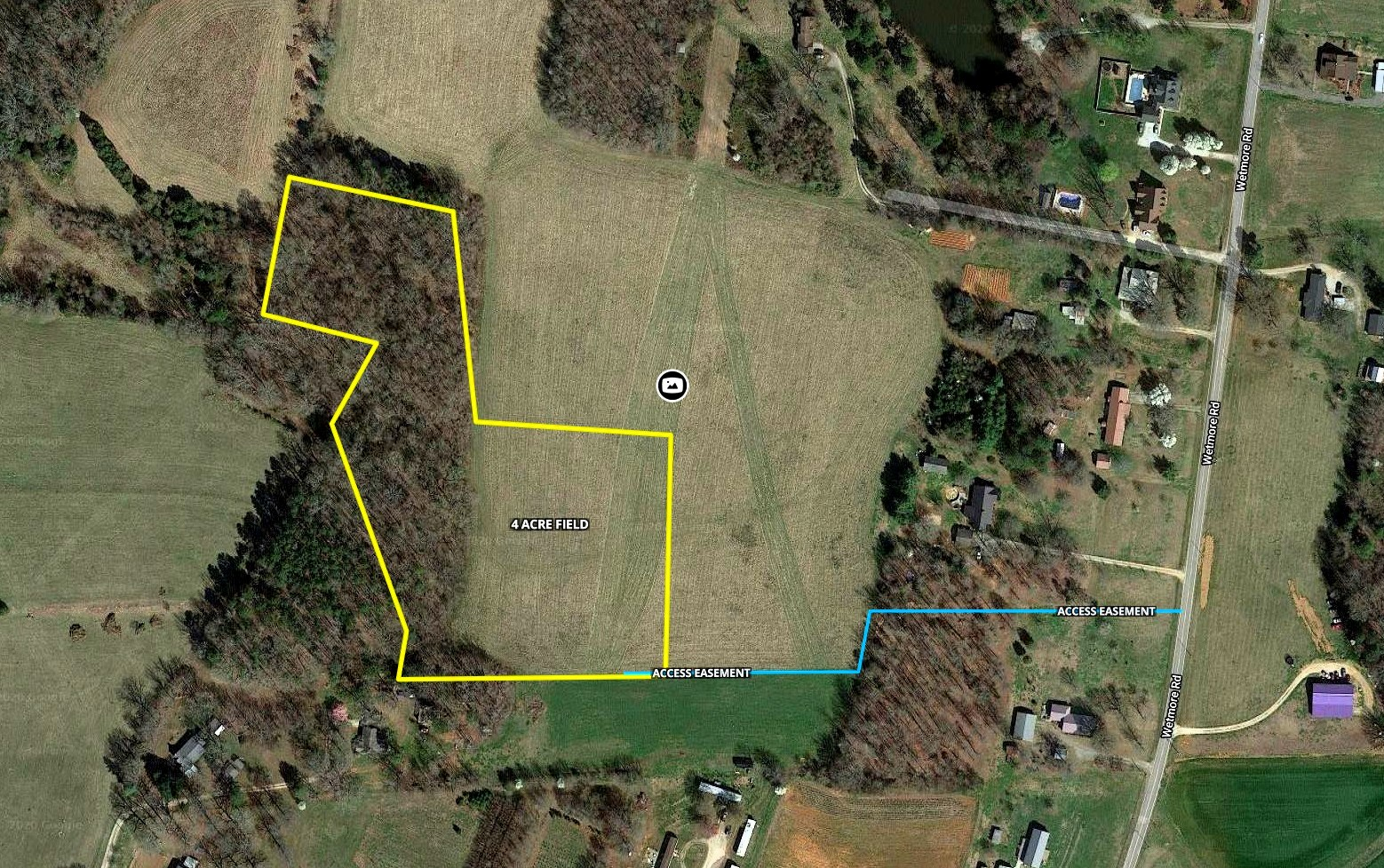 Buildeable Tract With Field And Trees in Rowan County