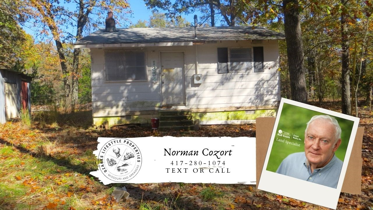 Cabin for Sale in the Ozarks with Acreage