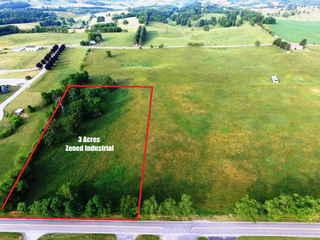 3 Acres zoned Industrial in Wytheville, VA