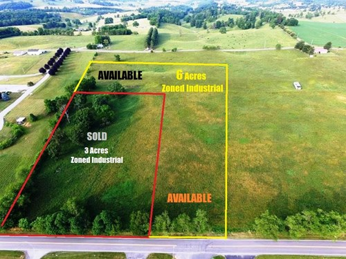 6 Acres in industrial park near interstate in Wytheville, VA