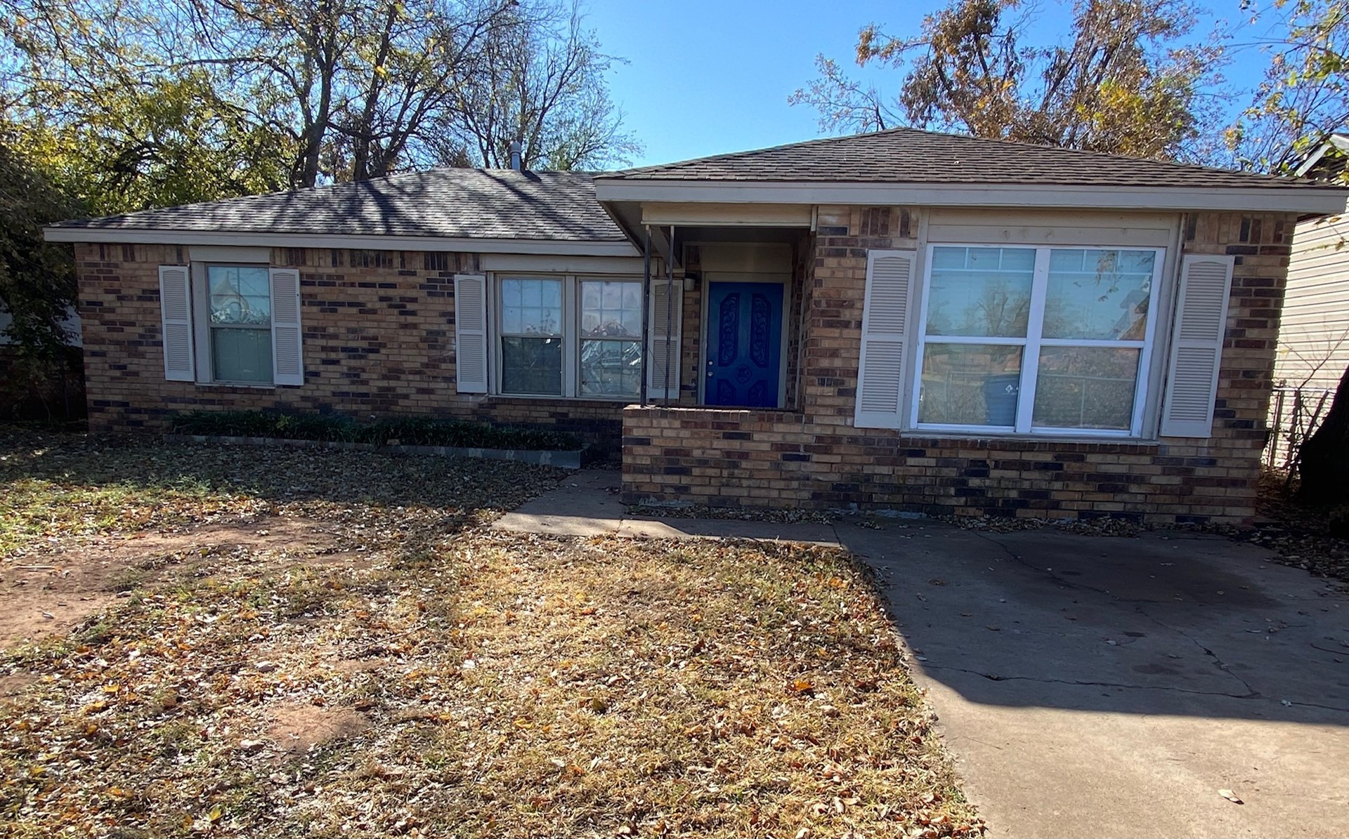 Caddo County 3 Bedroom  Brick Home For Sale Anadarko OK