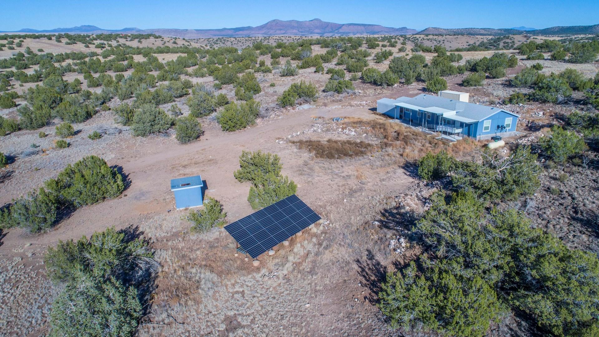 Off Grid Home bordering Public Land for Sale Seligman aZ