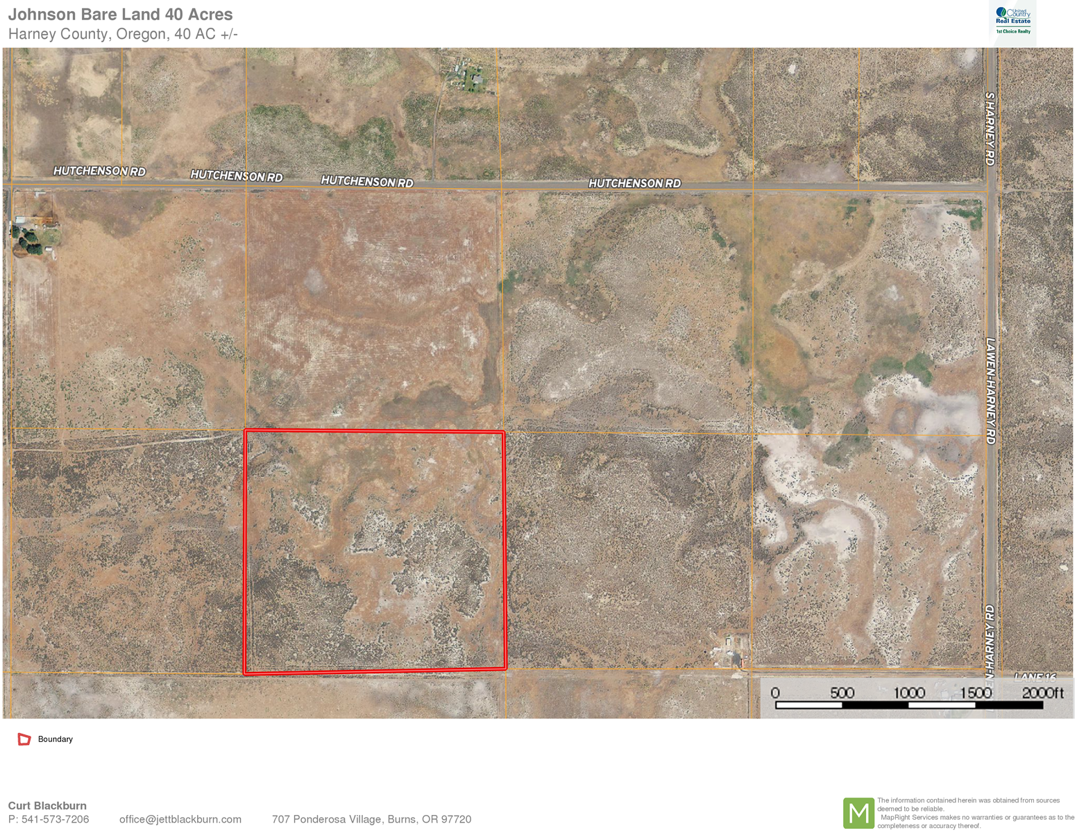 40 ACRES OF BARE LAND FOR SALE!