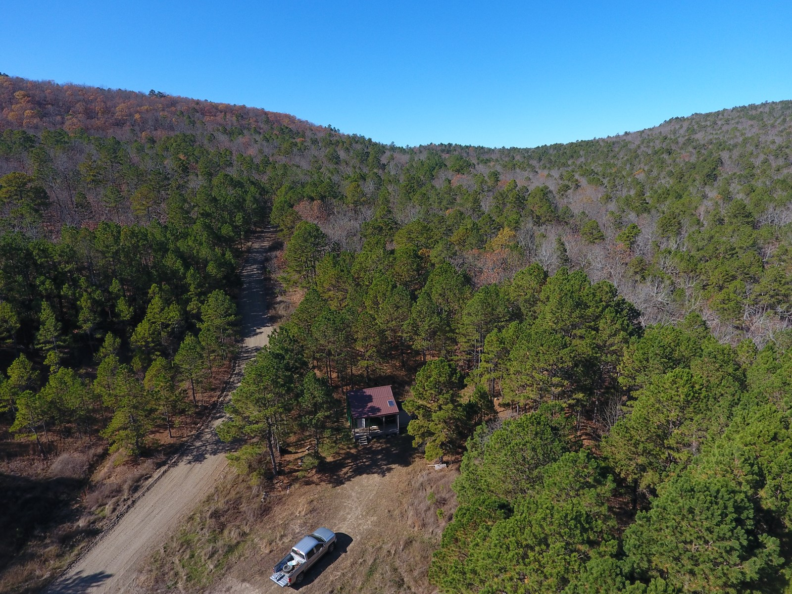 58 Acre Recreational Property with Off-Grid Cabin