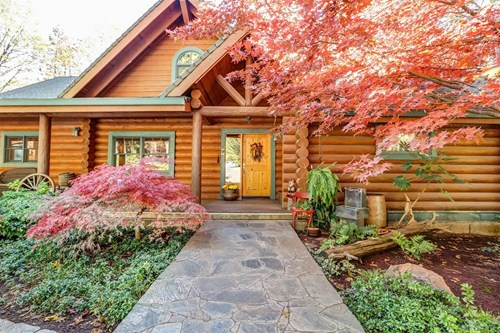 California Log Home and Equine Property for Sale