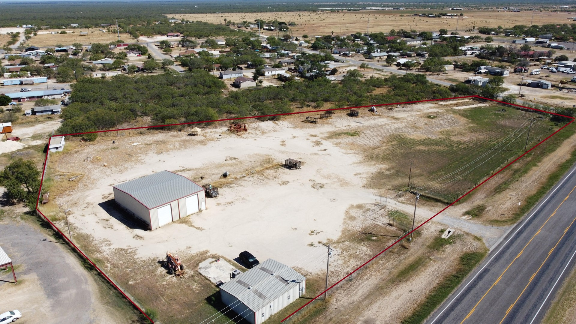 Carrizo Springs Industrial Yard For Sale- On Highway 83!