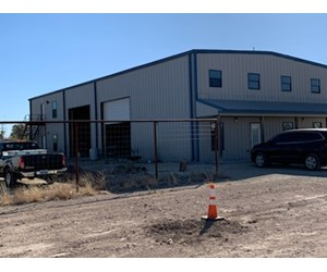 Commercial oil field yard with house, shop and office