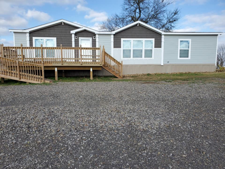 NICE DOUBLE WIDE ON 10 ACRES M/L!