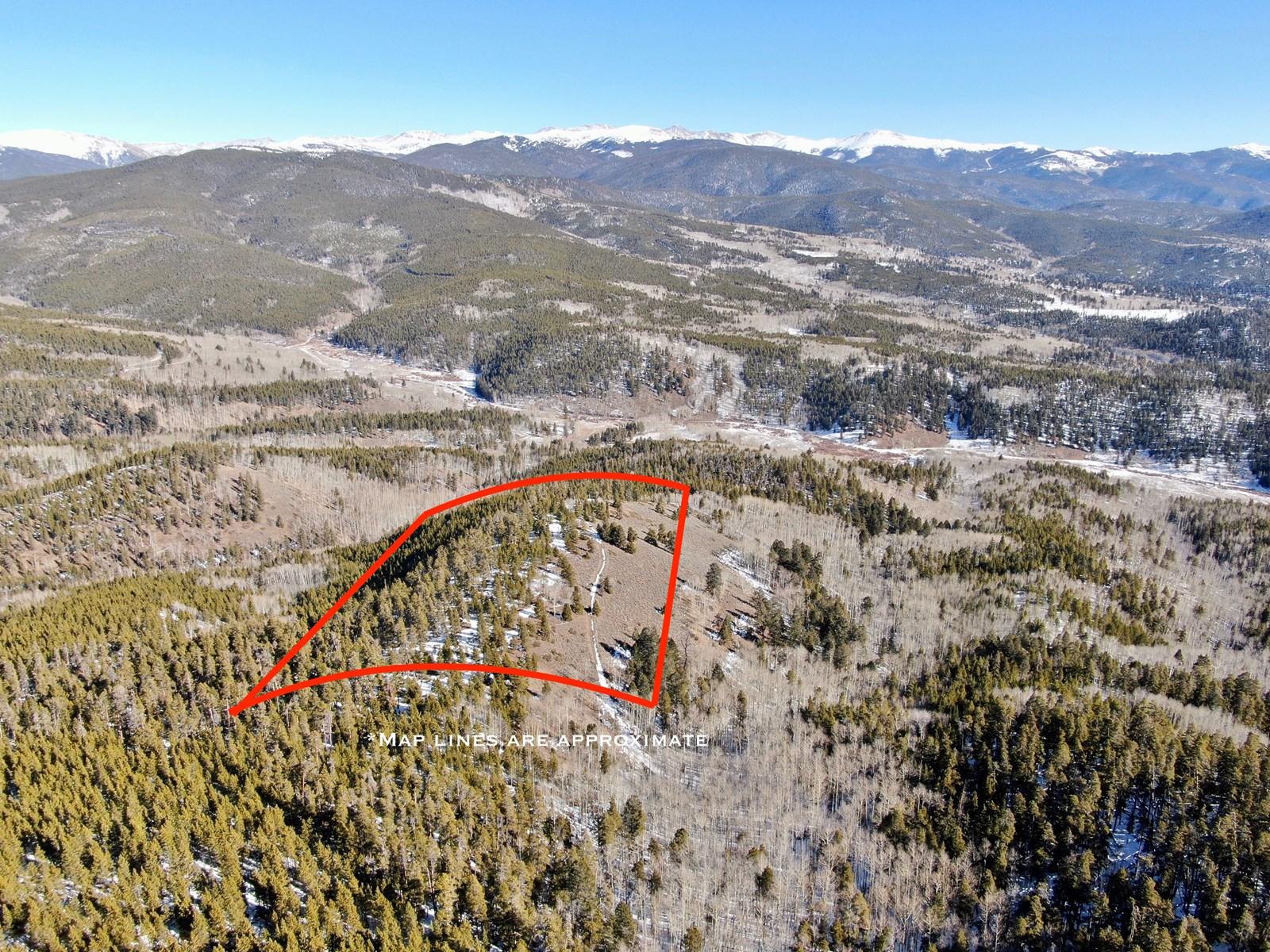 Colorado Mountain Cabin Land for Sale near Gunnison