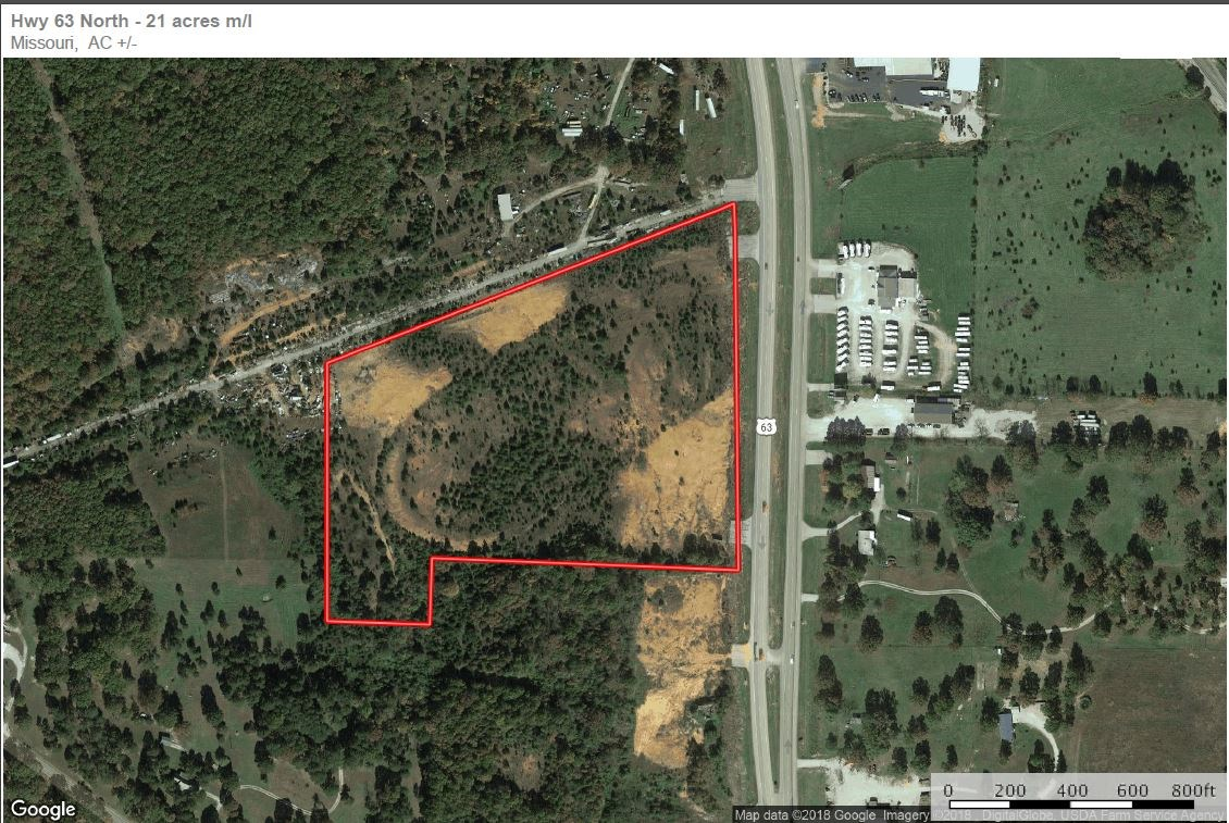 Commercial Land w/ Hwy Frontage in West Plains, MO for sale