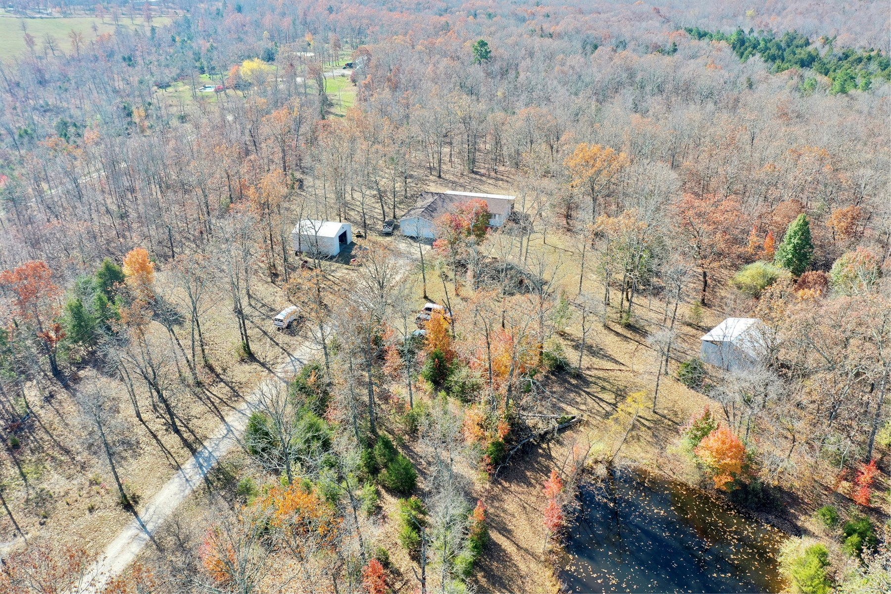 9 acres outside of Salem with 3 bedrooms and attached garage