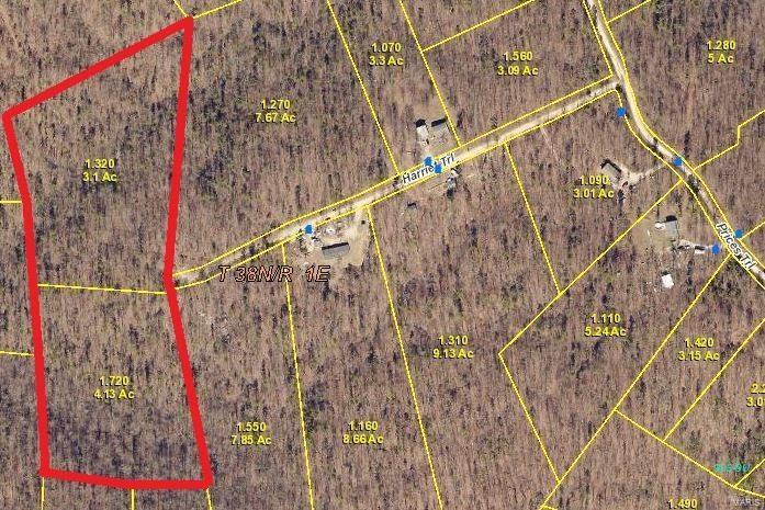 7.23 mostly wooded acres with electric nearby, recreation