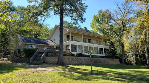 WATERFRONT HOME FOR SALE LAKE PALESTINE, 2-STORY W/ ELEVATOR