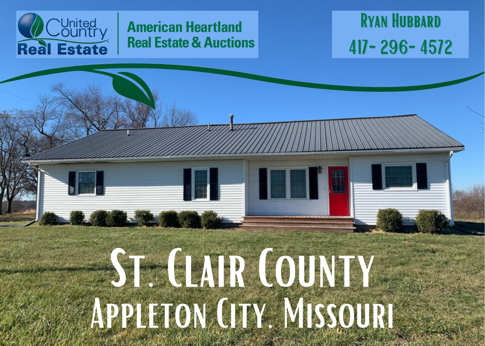 Large Country Home in St. Clair County, MO