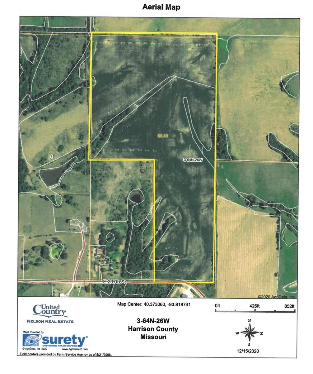 60 Acre m/l Row Crop Farm For Sale