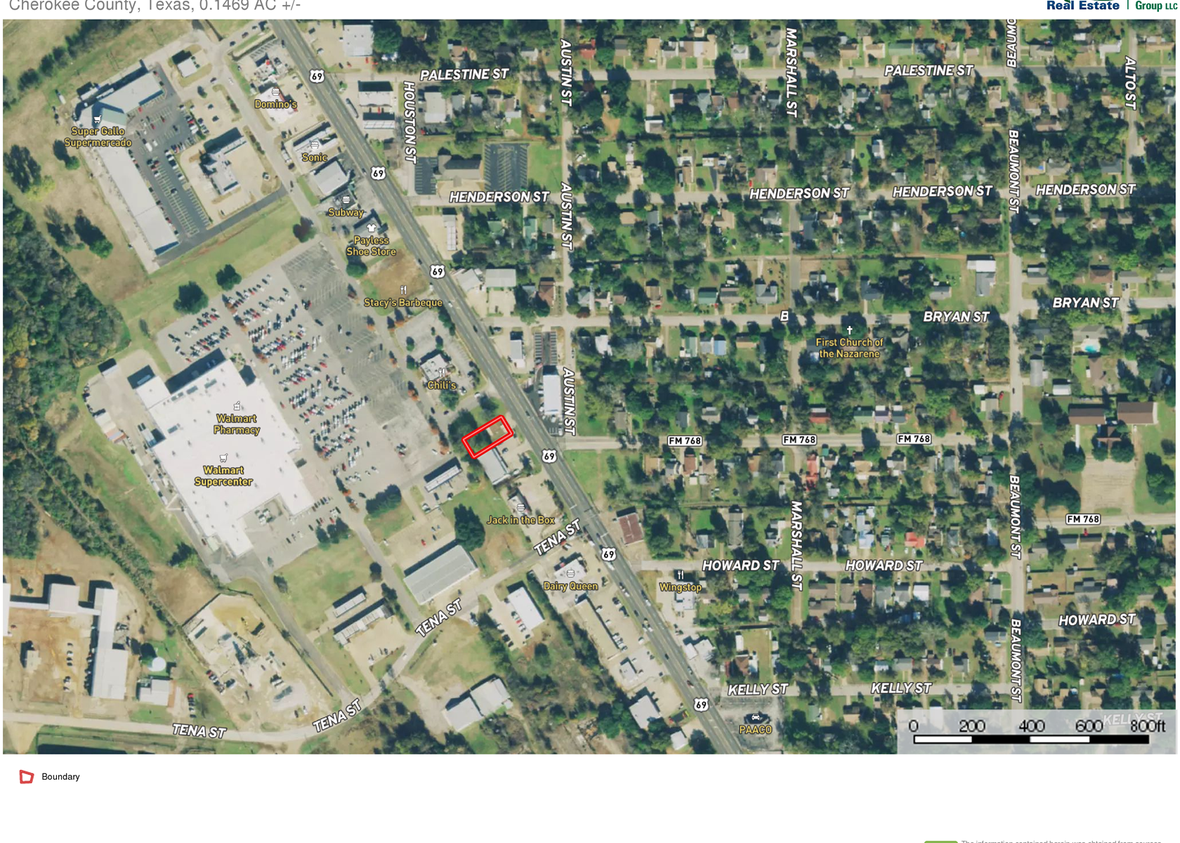 COMMERCIAL LOT FOR SALE JACKSONVILLE TEXAS HIGHWAY FRONTAGE