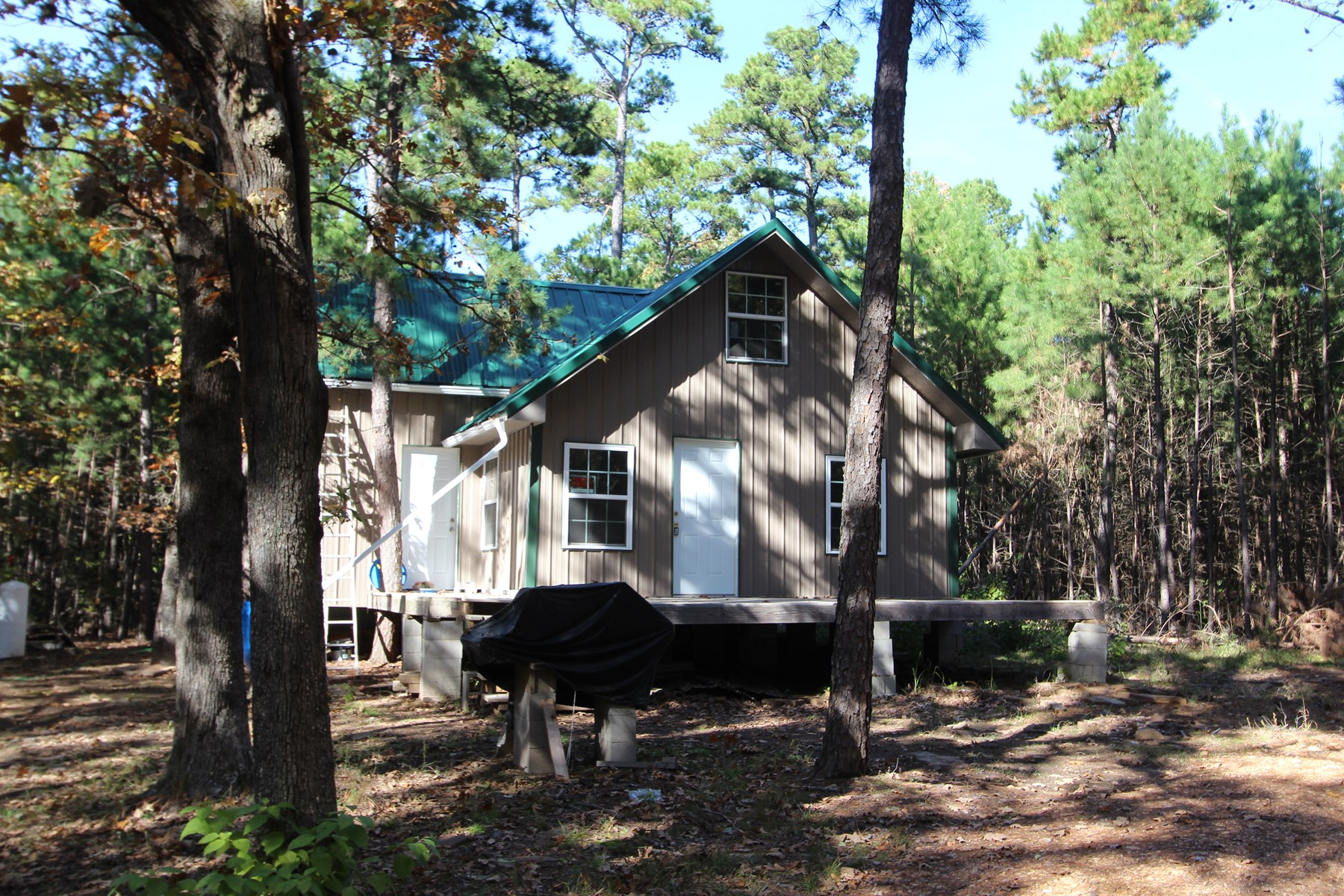 Mountain Cabin Hunting Property For Sale Moyers Oklahoma