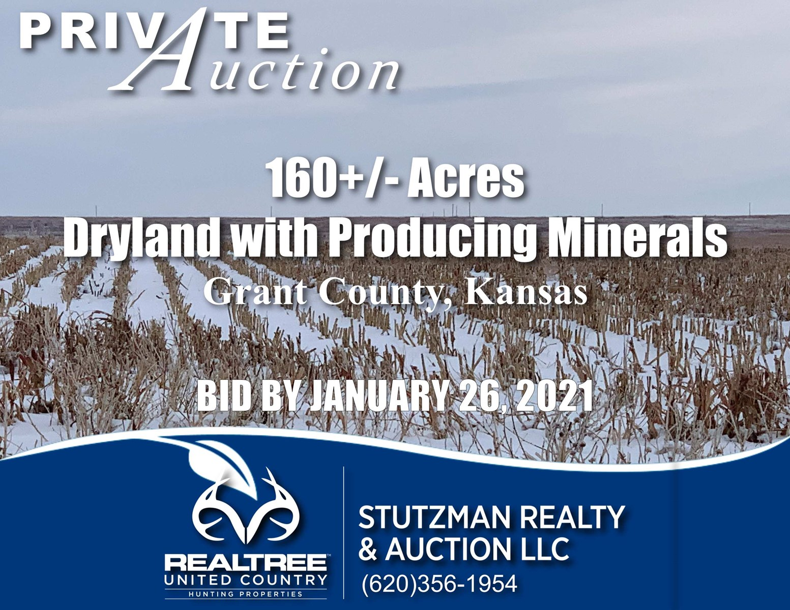GRANT COUNTY KS ~ 160+/- ACRE FARM with PRODUCING MINERALS