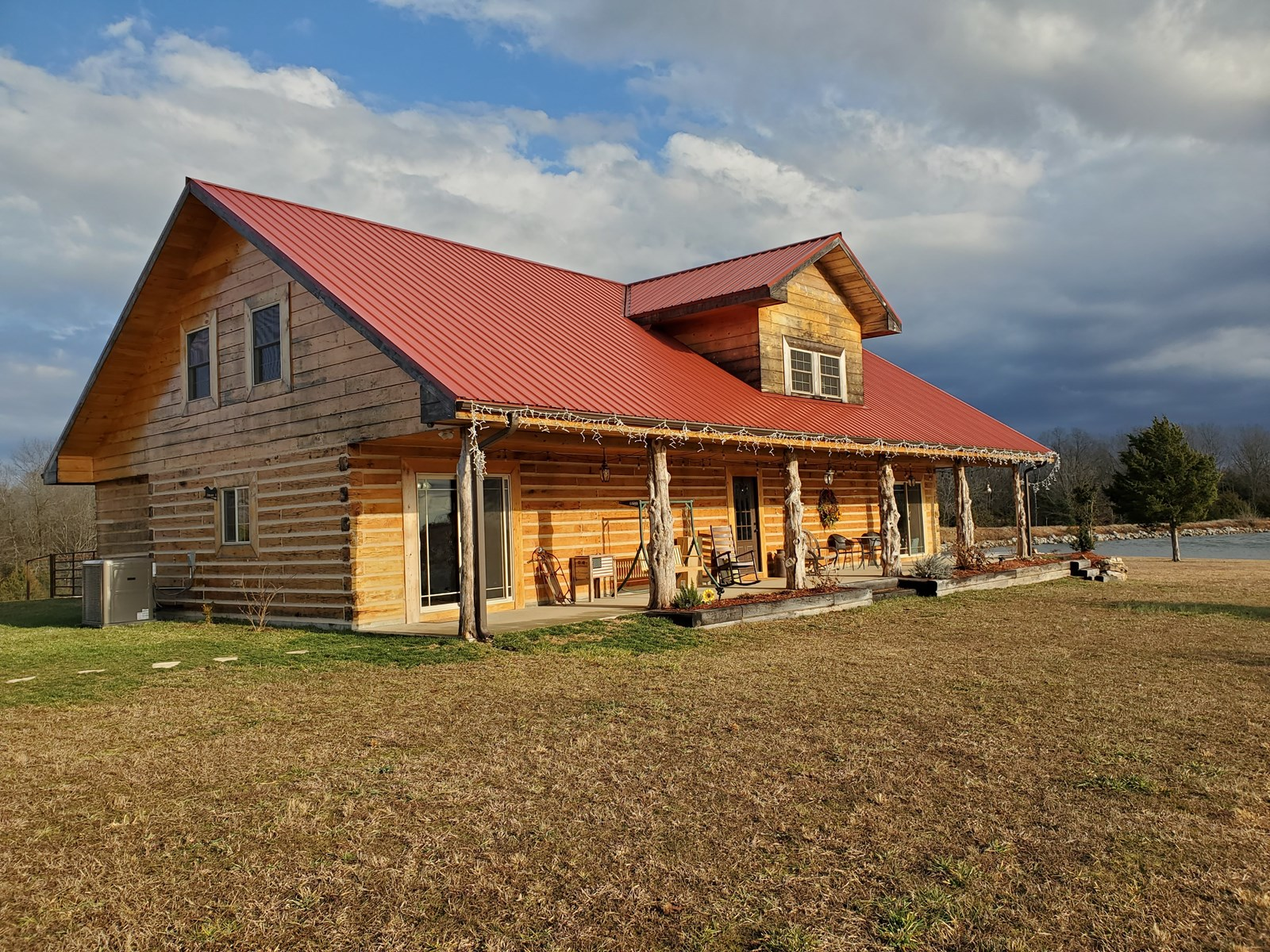 Custom Log Home for Sale in Wright County