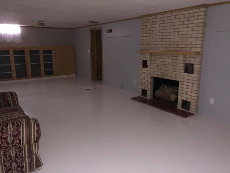 Living Area in Basement