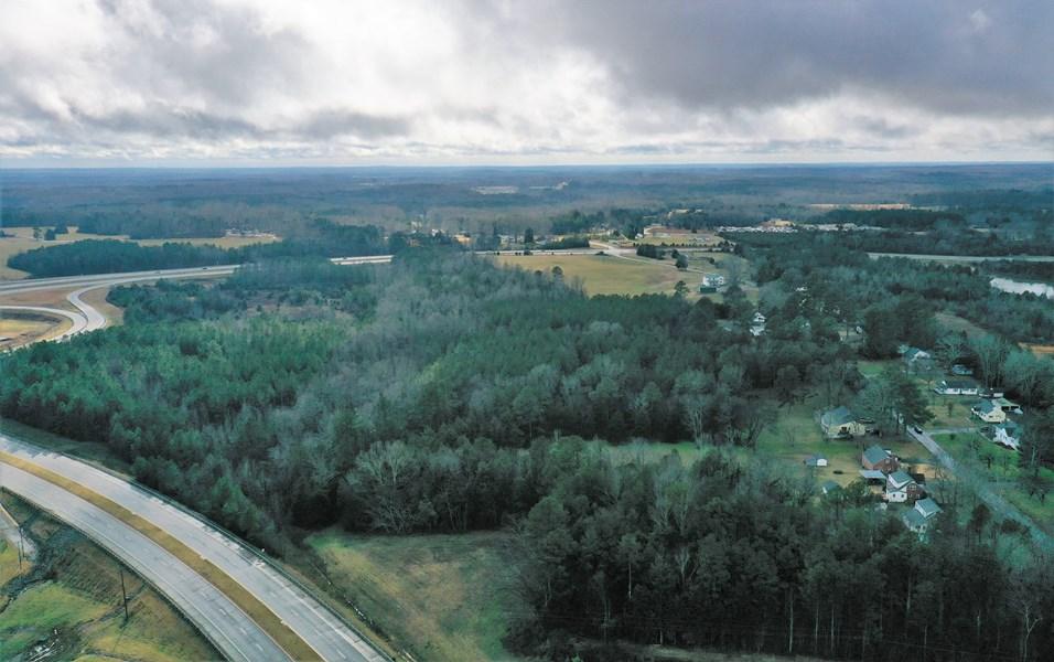 view south to enterchange