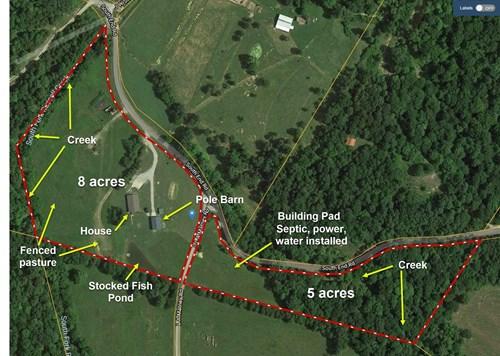 Hobby Farm, Home, Garage/Shop, Stocked Pond, 2nd Homesite