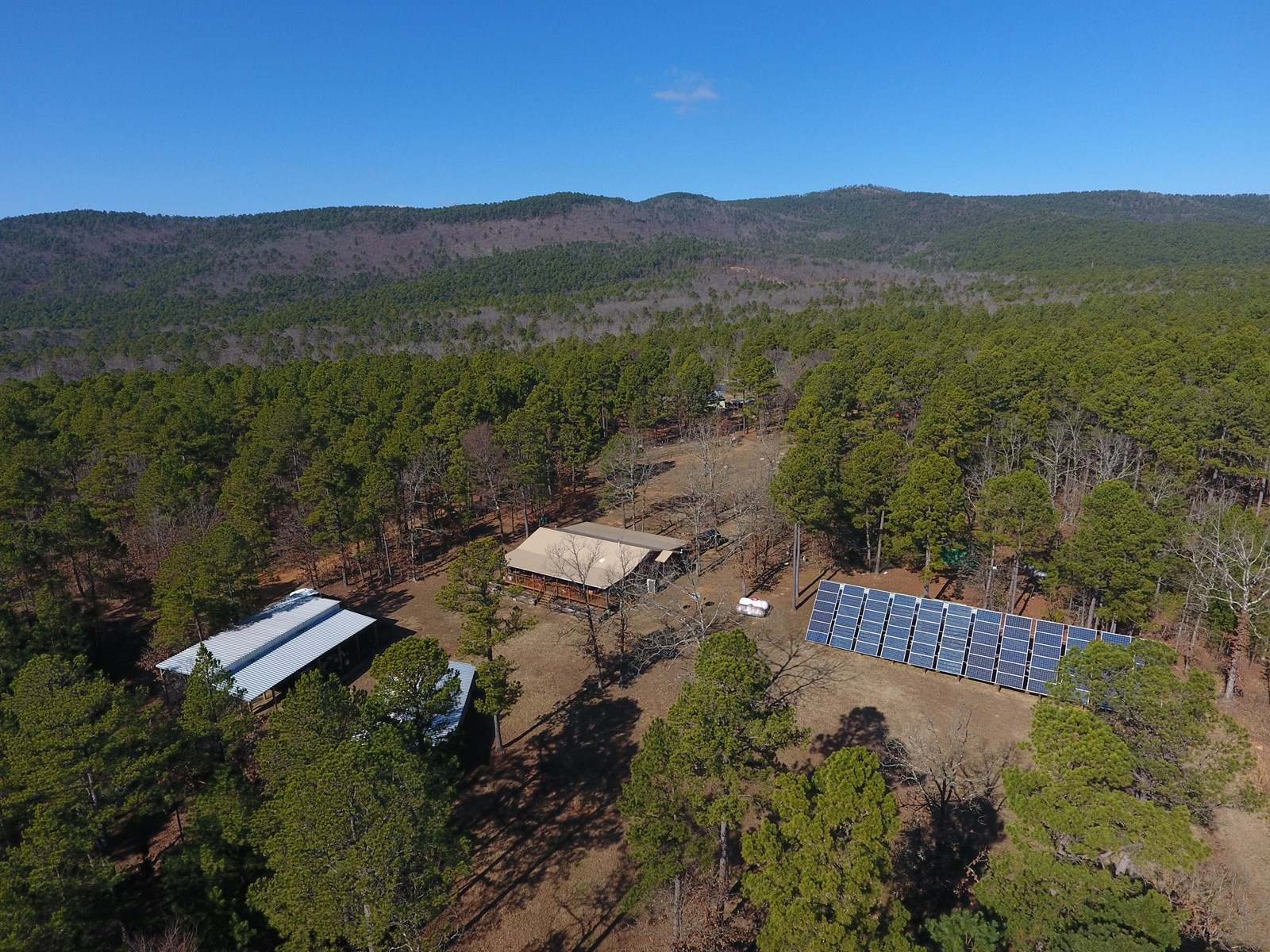 Winding Stair Mountain Off-Grid Cabin in National Forest
