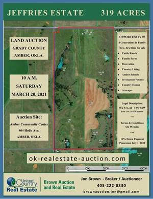 GRADY CO. LAND AUCTION - OKLAHOMA - FARM, RANCH, DEVELOPMENT