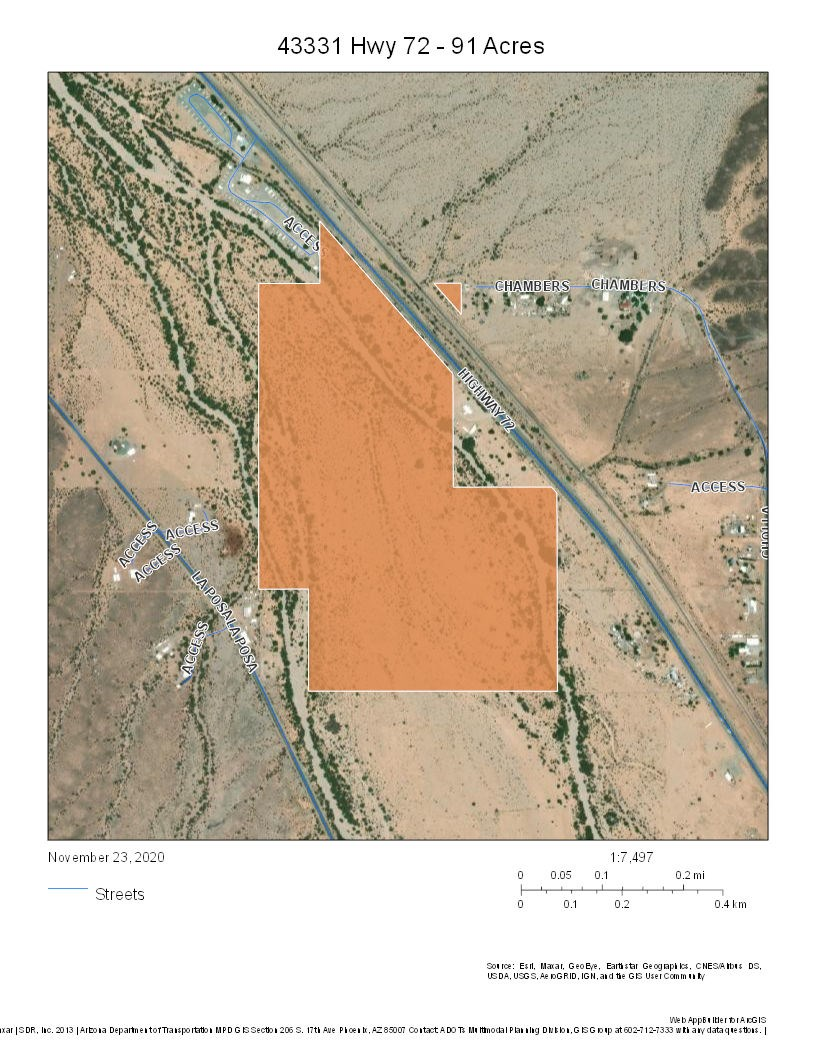 Bouse, Arizona  90+ Acres  - Hwy 72 Frontage