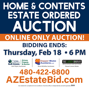 4 BEDROOM MESA AZ ESTATE ORDERED HOME AND CONTENTS AUCTION