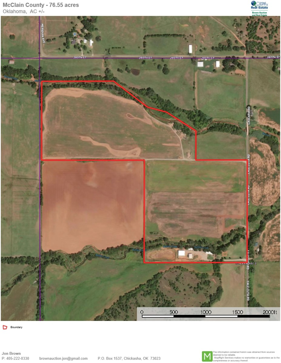 McClain County Land For Sale- Farm- Irrigation- Home- Shops