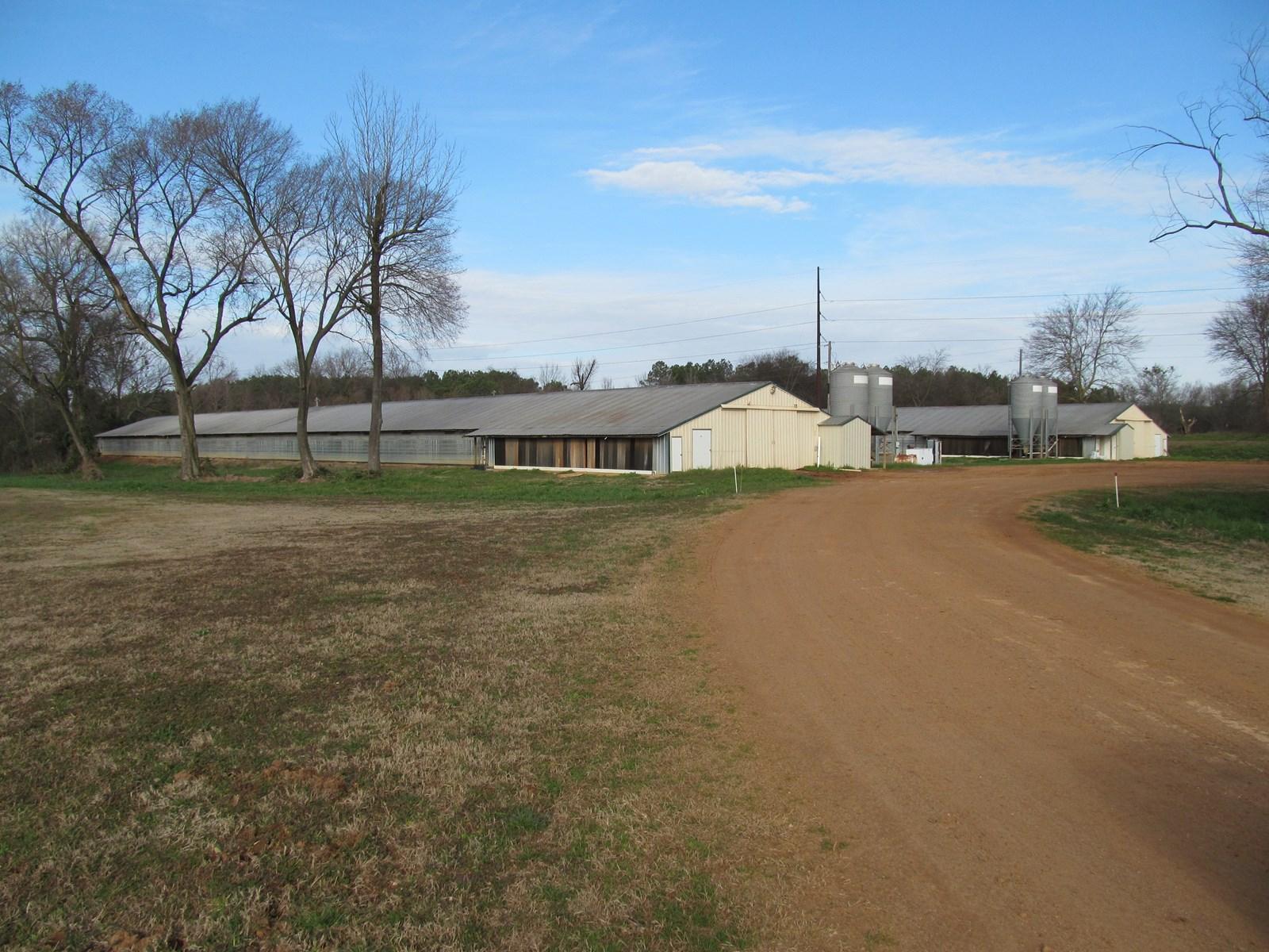 37.5 ACRES PITTSBURG, TEXAS - 12 HOUSE POULTRY FARM