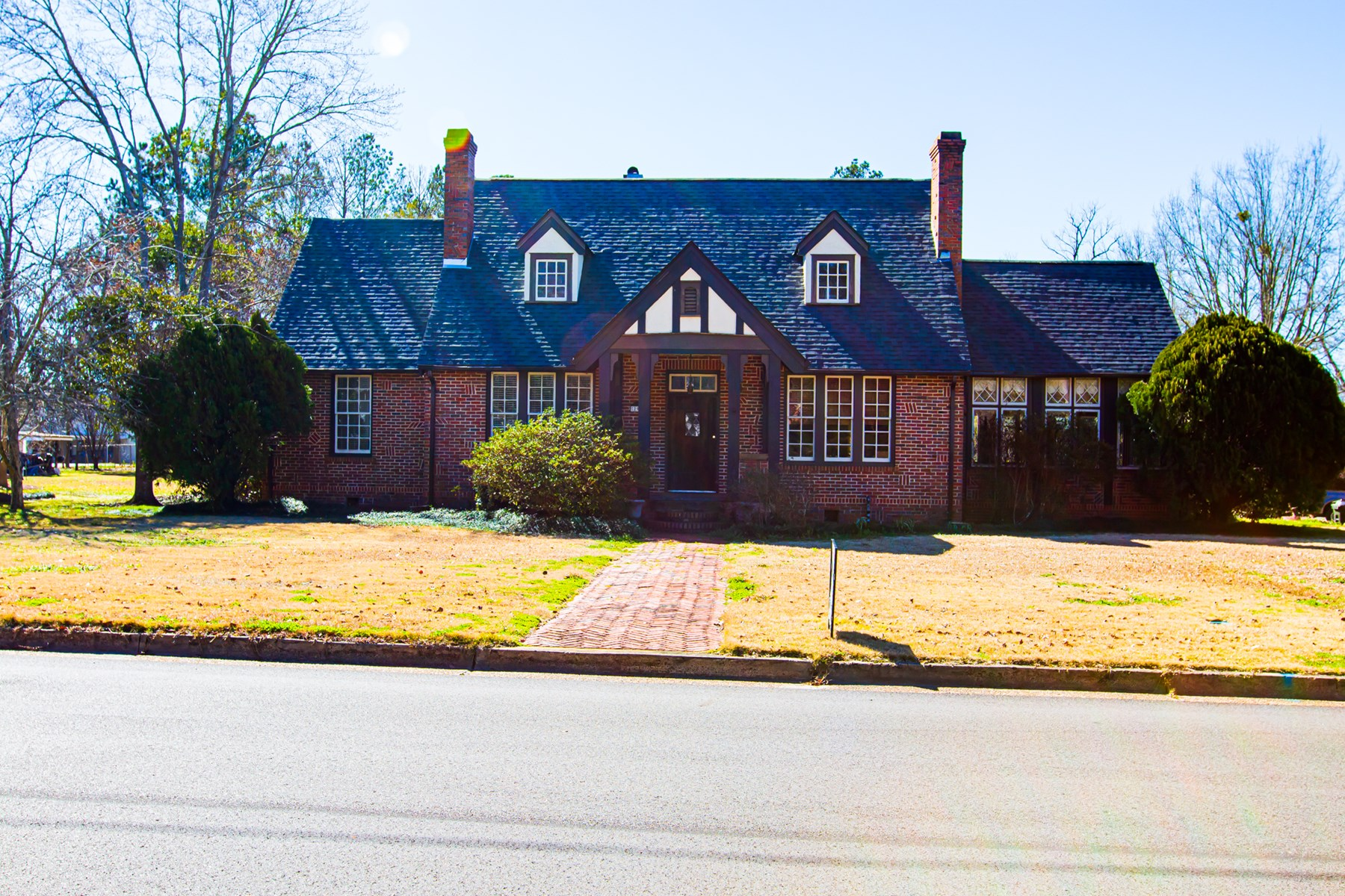 Tudor home with guest house on East First Street