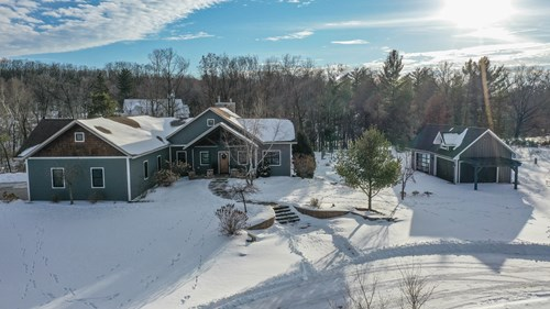Custom Built Home for sale on Crystal River in Waupaca, WI