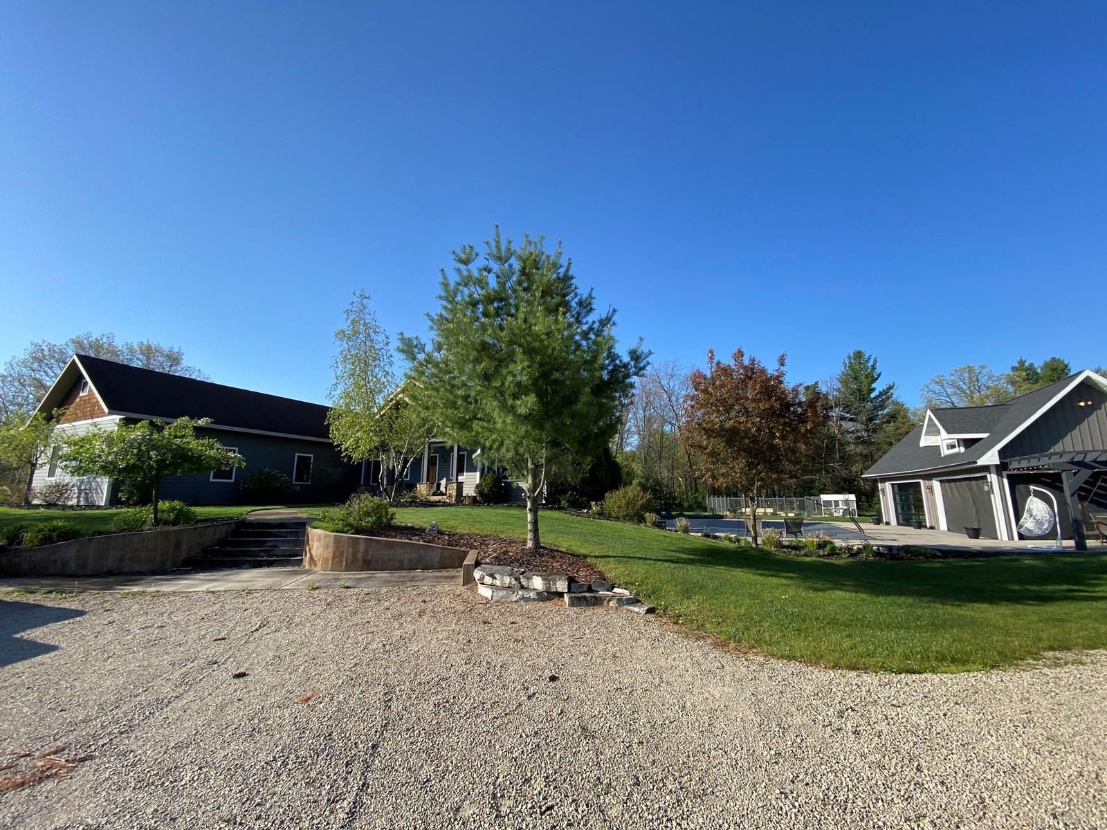 Custom Built Home for sale on Crystal River in Waupaca, WI