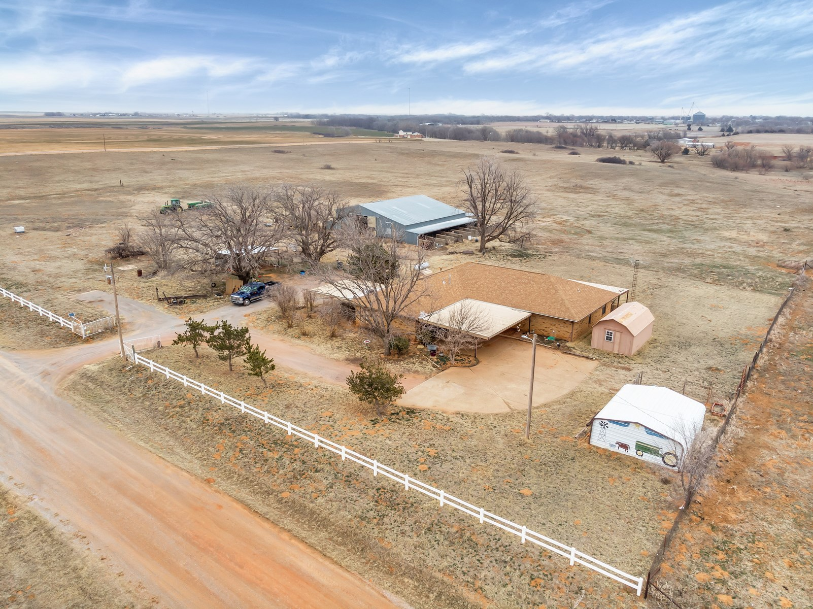HOME ON LAND IN CARTER OK