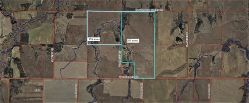 ONLINE LAND AUCTION - 445 ACRES PREMIER REC LAND RENO CO, KS