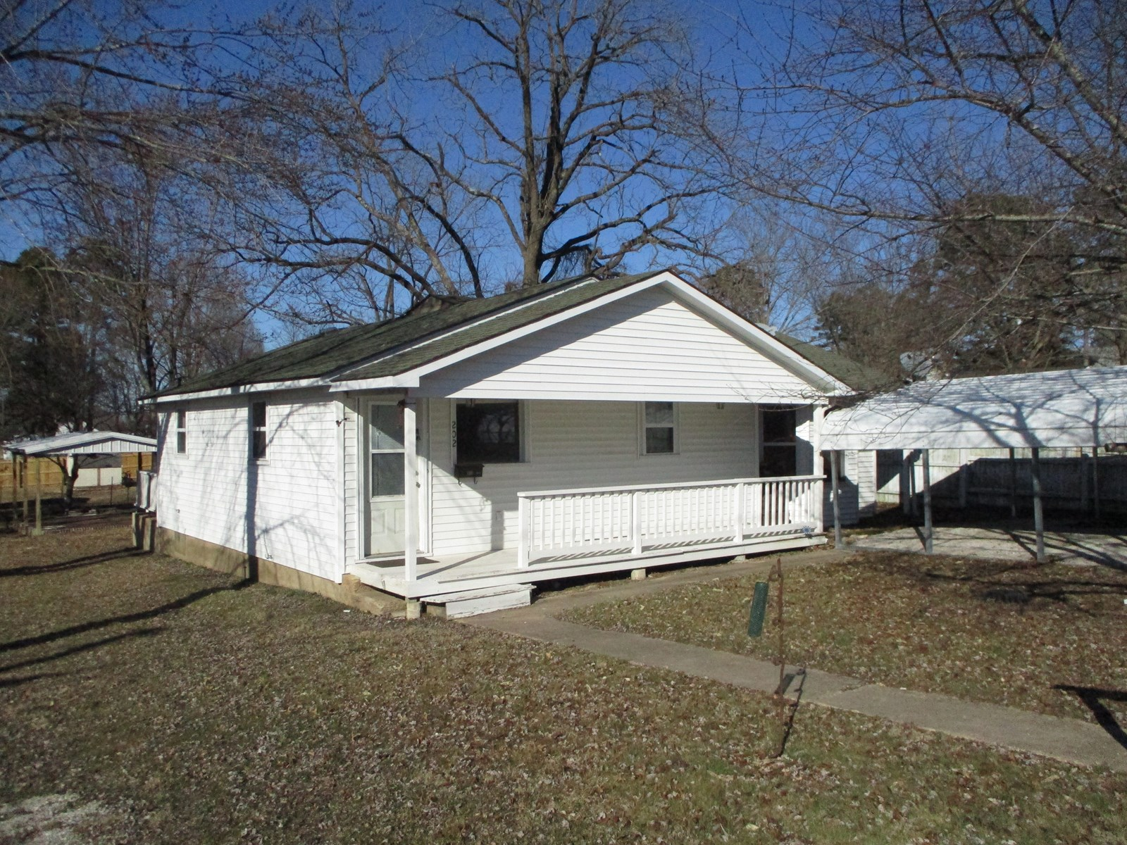 Great location features this 2 bedroom and 1 bath home.